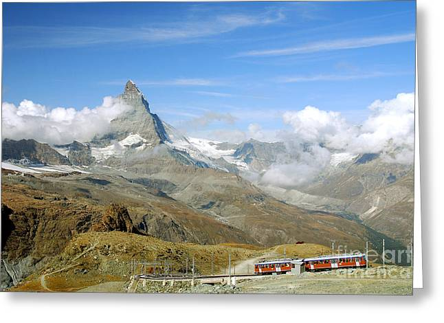 Zermatt Greeting Cards - To the summit Greeting Card by Ivy Ho
