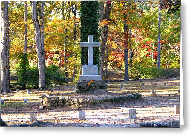 Civil War Battle Site Greeting Cards - To The Unknown Dead Greeting Card by Renee Trenholm
