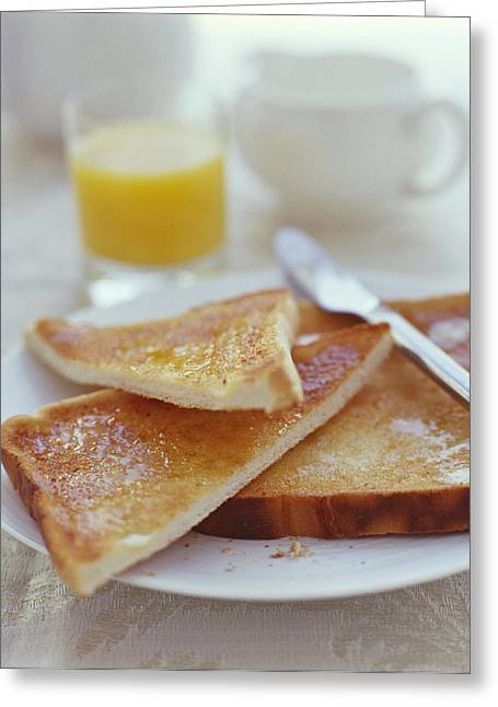 Toast Greeting Cards - Toast And Marmalade Greeting Card by David Munns