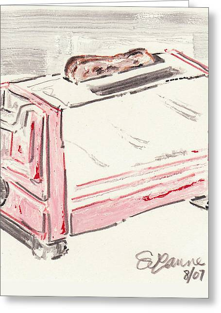 Toaster Mixed Media Greeting Cards - Toast Greeting Card by Suzanne Blender