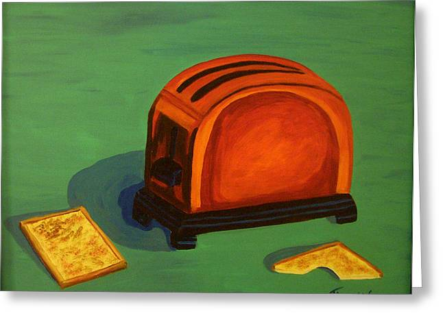 Toaster Paintings Greeting Cards - Toaster Greeting Card by Cynthia Thomas