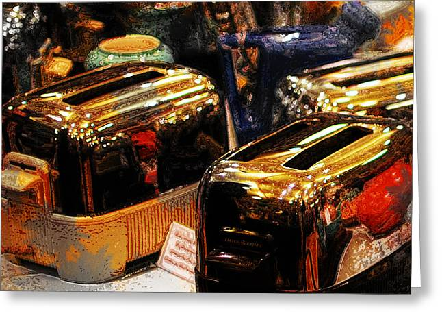 Toasters Greeting Card by Simone Hester