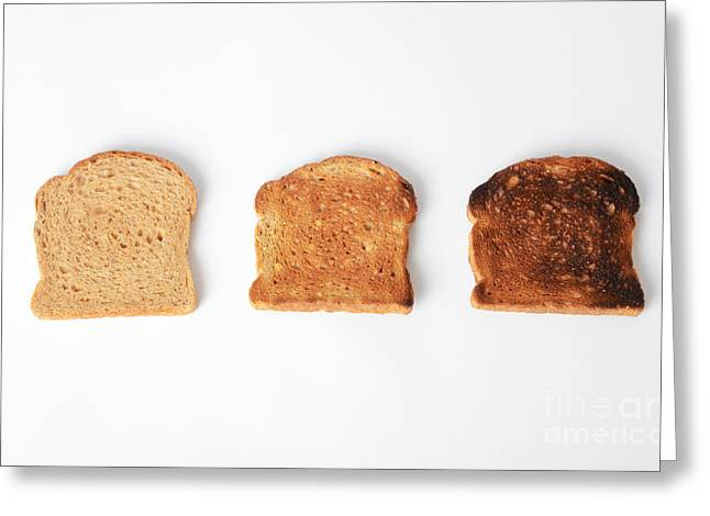Toasting Bread Greeting Card by Photo Researchers, Inc.
