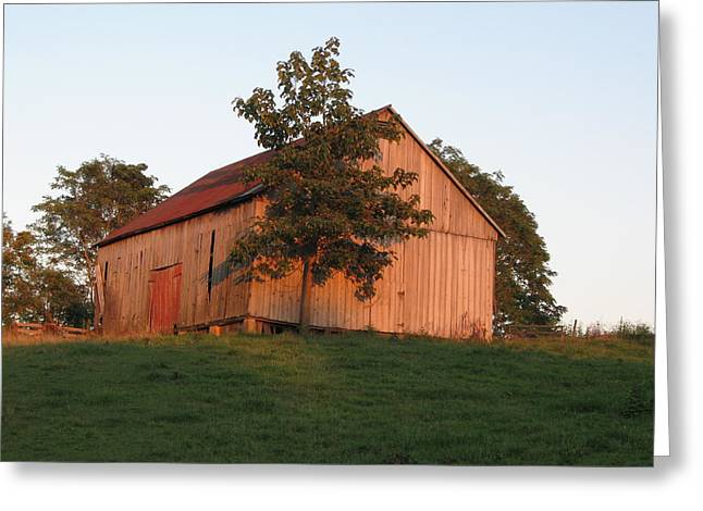 Tobacco Barn II In Color Greeting Card by JD Grimes