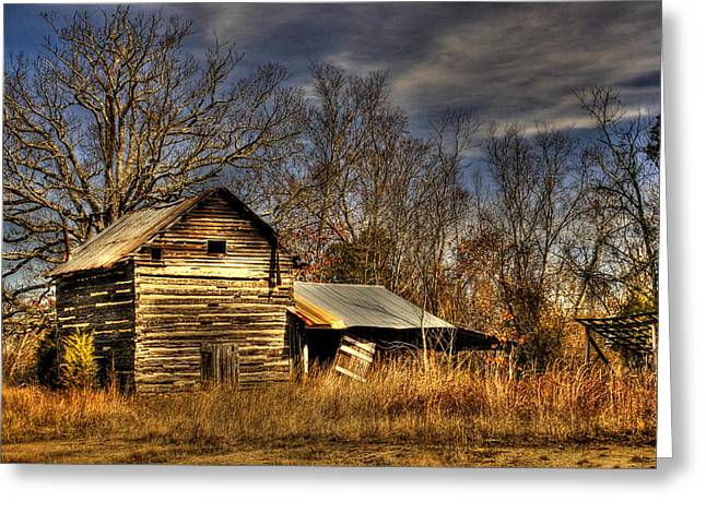 Tobacco Barns Greeting Cards - Tobacco Road Greeting Card by Benanne Stiens