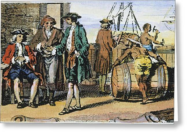 African-american Greeting Cards - Tobacco Warehouse, 1775 Greeting Card by Granger