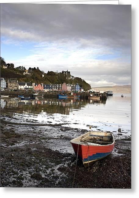 Row Boat Greeting Cards - Tobermory, Isle Of Mull, Scotland Greeting Card by John Short