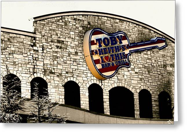 Vacation Digital Art Greeting Cards - Toby Keiths Bar Greeting Card by Karen M Scovill