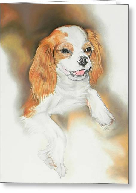 Pet Portraits Pastels Greeting Cards - Toby Greeting Card by Paul Miners