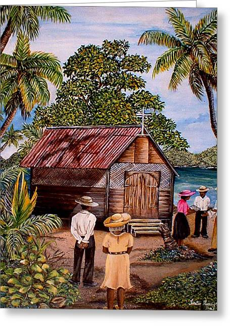 Trister Hosang Greeting Cards - Toco Church Greeting Card by Trister Hosang