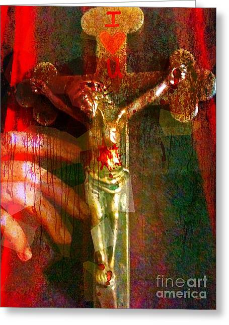 Servant Mixed Media Greeting Cards - Today I Plead The Blood of Jesus Over Me Greeting Card by Fania Simon