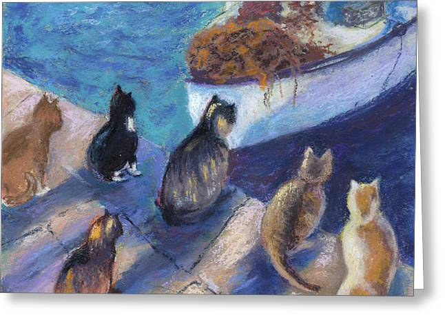 Today's Catch Greeting Card by Helen Hammerman