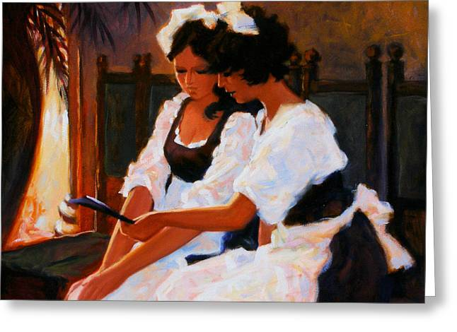 Waitress Paintings Greeting Cards - Todays Special Greeting Card by Kevin Lawrence Leveque