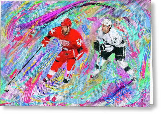 Hockey Paintings Greeting Cards - Todd Bertuzzi Greeting Card by Donald Pavlica