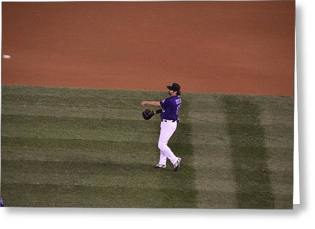 Todd Helton Greeting Cards - Todd Helton Greeting Card by Cynthia  Cox Cottam