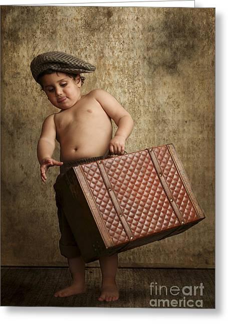 Sticking Out Tongue Greeting Cards - toddler Leaving Home Greeting Card by Yedidya yos mizrachi