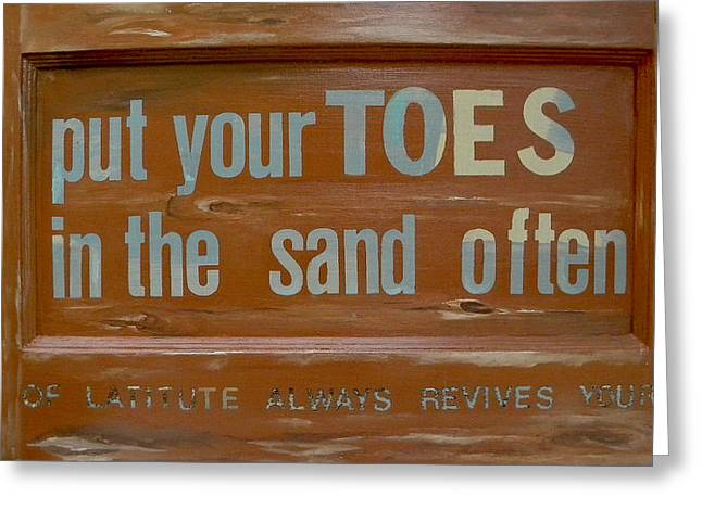 Put Greeting Cards - Toes in The Sand Greeting Card by Patti Schermerhorn