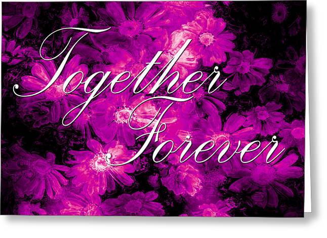 Special Occasion Digital Art Greeting Cards - Together Forever Greeting Card by Phill Petrovic