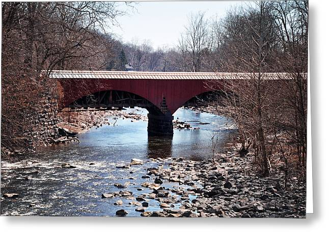 Point Pleasant Greeting Cards - Tohickon Creek Aqueduct Point Pleasant PA Greeting Card by Bill Cannon