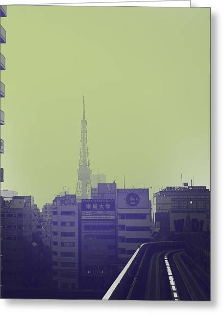 Metropolis Greeting Cards - Tokyo City Ride Greeting Card by Naxart Studio