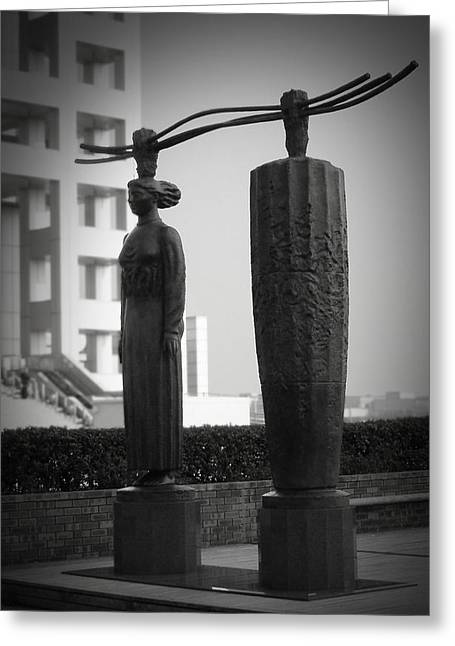 Tokyo Greeting Cards - Tokyo City Sculptures Greeting Card by Naxart Studio