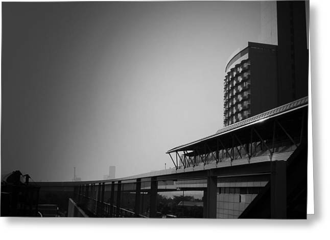 Contemporary Architecture Greeting Cards - Tokyo Metro Station Greeting Card by Naxart Studio