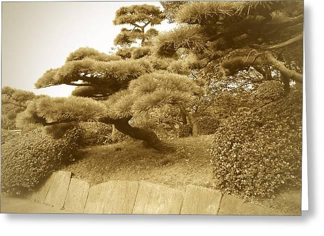 Tokyo Park Greeting Card by Naxart Studio
