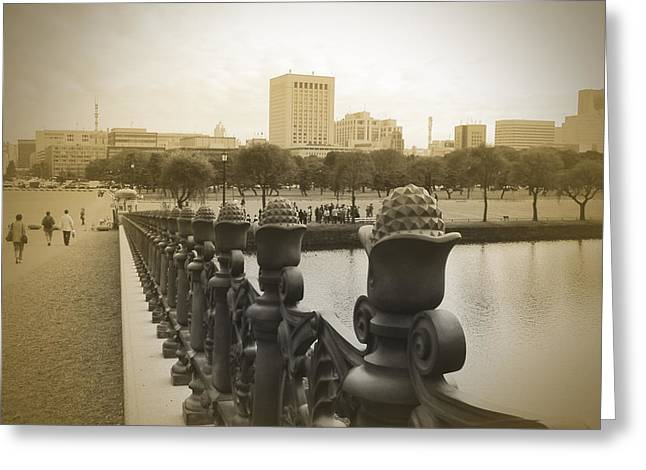 City Streets Photographs Greeting Cards - Tokyo Square Greeting Card by Naxart Studio