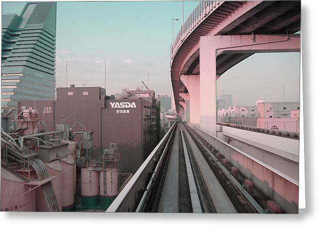 Tokyo Train Ride 5 Greeting Card by Naxart Studio