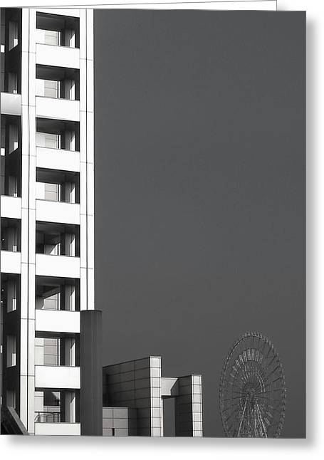 Tokyo Skyline Greeting Cards - Tokyos Devils Wheel Greeting Card by Naxart Studio