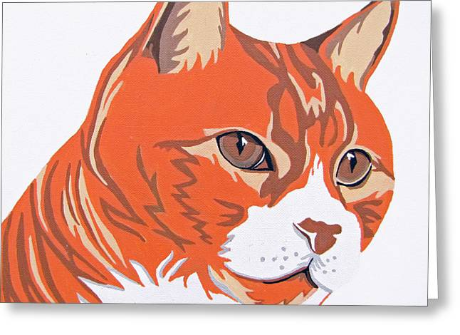 Cat Portraits Greeting Cards - Tom Cat Greeting Card by Slade Roberts