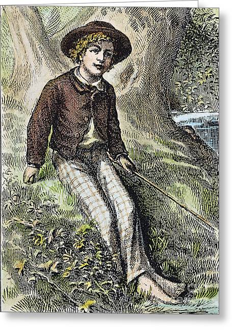 1876 Greeting Cards - Tom Sawyer, 1876 Greeting Card by Granger