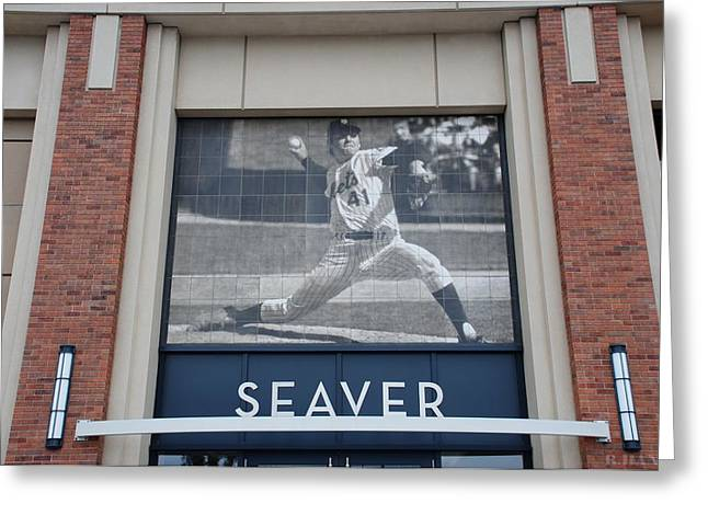 Tom Seaver Greeting Cards - Tom Seaver 41 Greeting Card by Rob Hans
