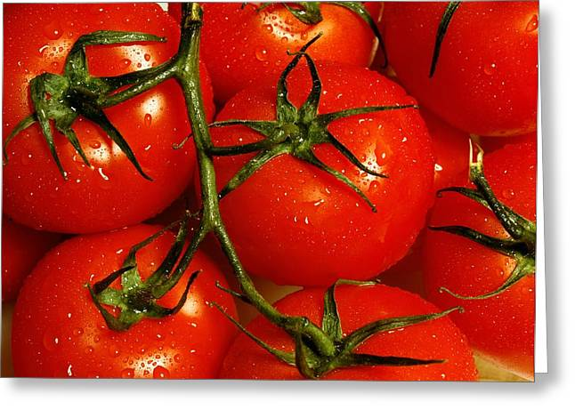 Nutritional Greeting Cards - Tomatoes Greeting Card by David Chapman