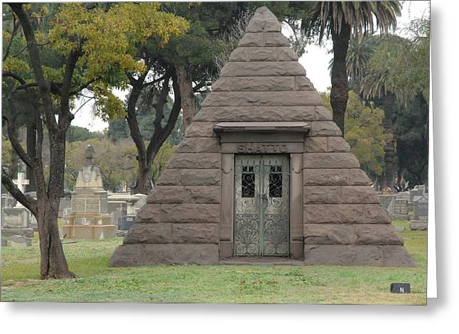 The Shadow Of Death Greeting Cards - Tomb Greeting Card by Liezel Rubin