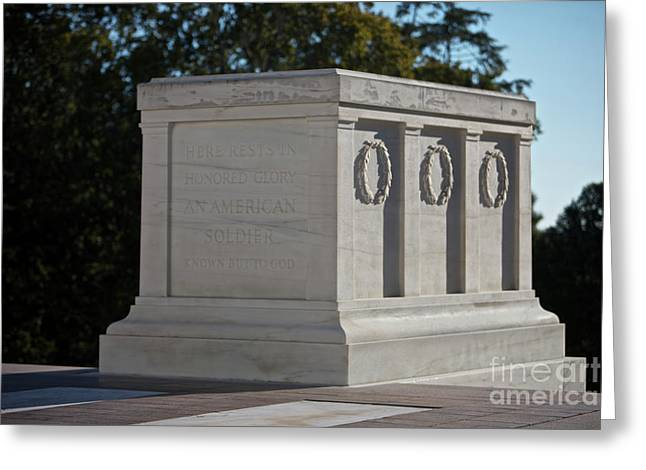 Soldiers National Cemetery Greeting Cards - Tomb Of The Unknown Soldier, Arlington Greeting Card by Terry Moore