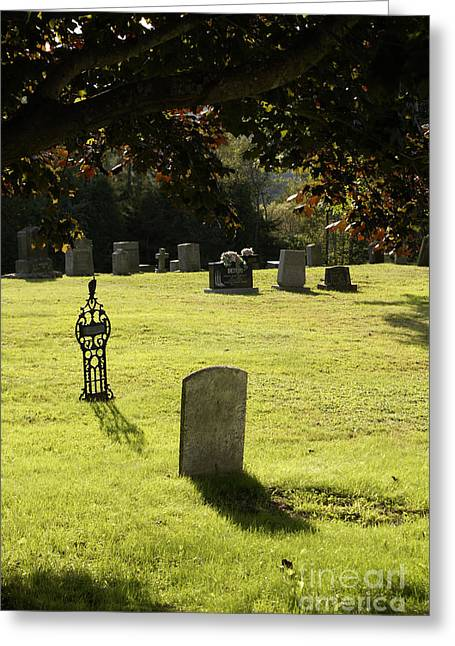 Kingston Greeting Cards - TOMBSTONES KINGSTON CEMETERY New Brunswick Greeting Card by John  Mitchell