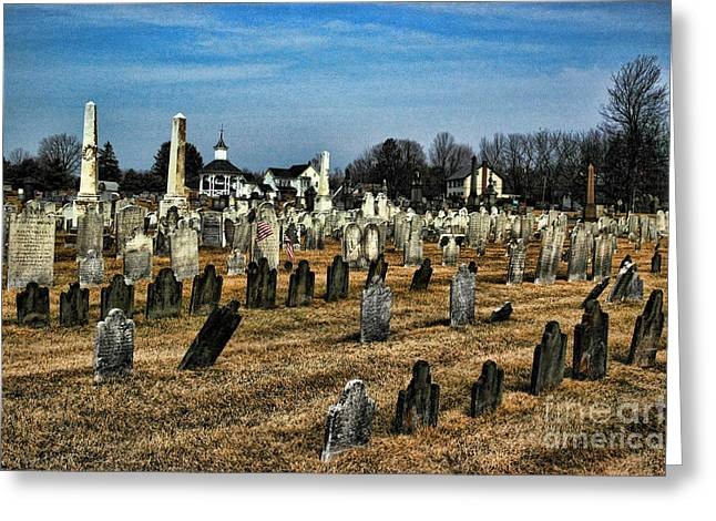 Final Resting Place Greeting Cards - Tombstones Greeting Card by Paul Ward