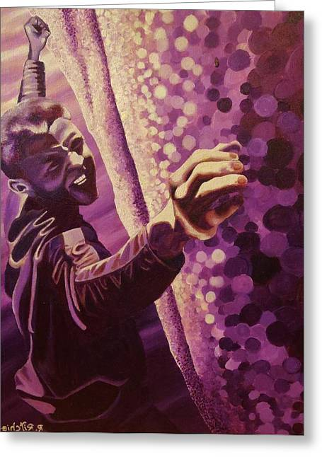 Overhang Paintings Greeting Cards - Tommy Greeting Card by Rick Ritchie