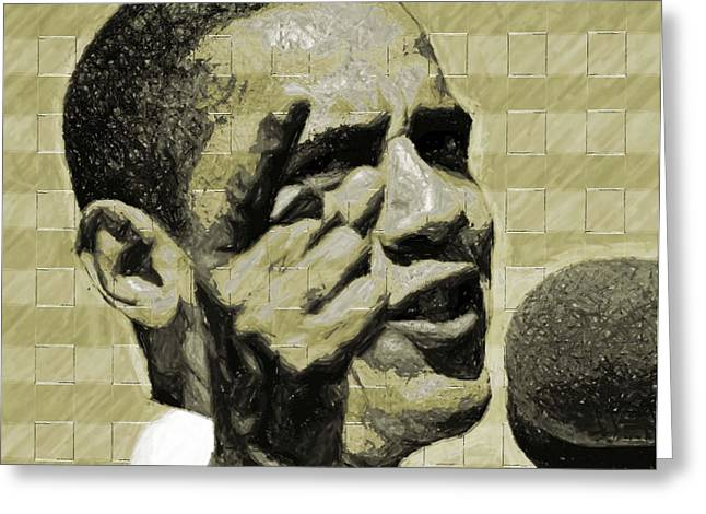 President Obama Digital Art Greeting Cards - Tomorrows Hope Greeting Card by LeeAnn Alexander