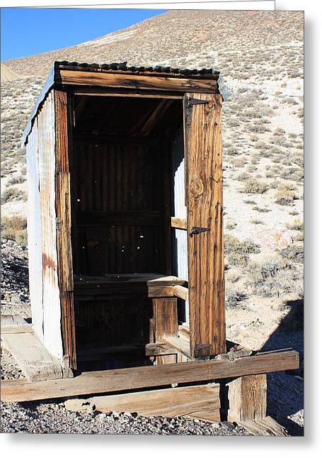Bodie Out House Greeting Cards - Tonapaugh Outhouse Greeting Card by Lydia Warner Miller