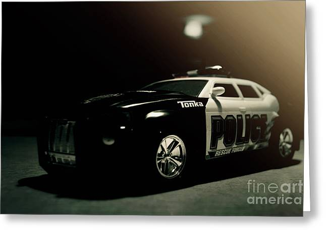 Police Car Greeting Cards - Tonka Tonka Greeting Card by Joel Witmeyer