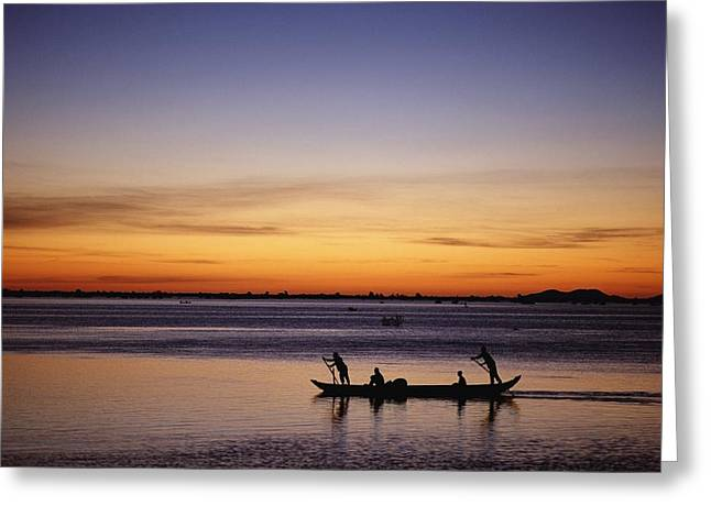 Tonle Greeting Cards - Tonle Sap Lake Greeting Card by Axiom Photographic
