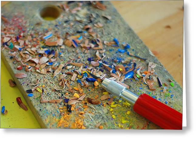 Tools Of The Trade Greeting Card by Lisa Phillips