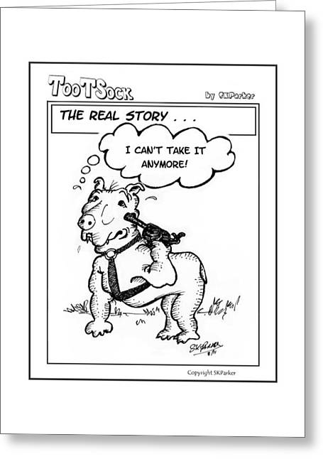 Best Sellers -  - Cartoonist Greeting Cards - TootSock002 Greeting Card by SK Parker