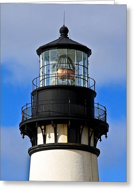 Top Of Lighthouse Greeting Card by Athena Mckinzie