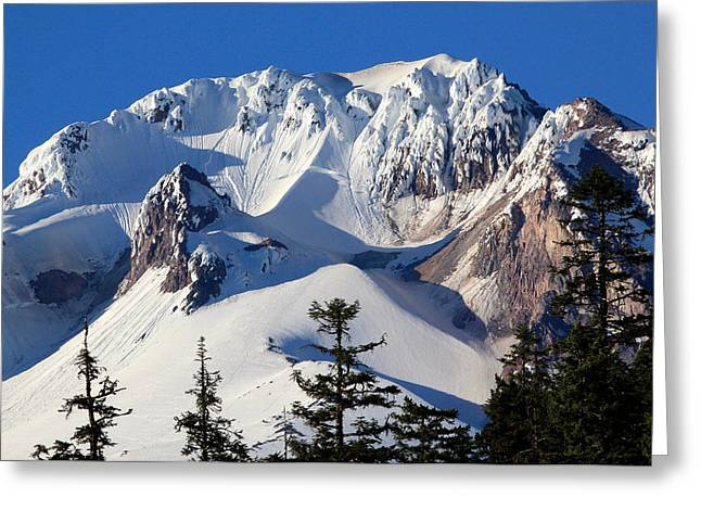 Sking Greeting Cards - Top of Mt. Hood Greeting Card by Athena Mckinzie