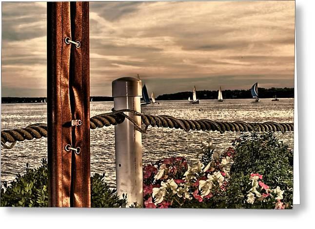 Ocean Scenes Greeting Cards - Top of the Bay Greeting Card by Tom Prendergast