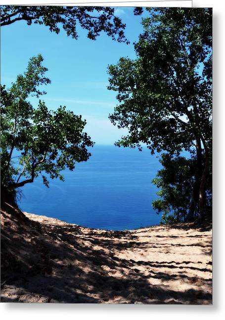Traverse City Greeting Cards - Top of the Dune at Sleeping Bear ll Greeting Card by Michelle Calkins