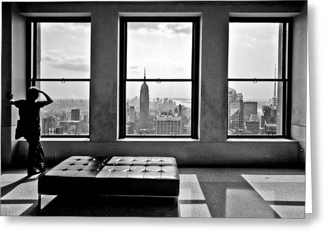 Black Top Greeting Cards - Top of the Rock Greeting Card by Thomas Splietker